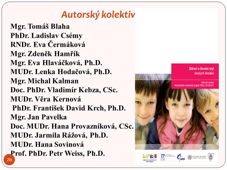 Autorský kolektiv: Mgr. Tomáš Blaha PhDr. Ladislav Csémy RNDr.