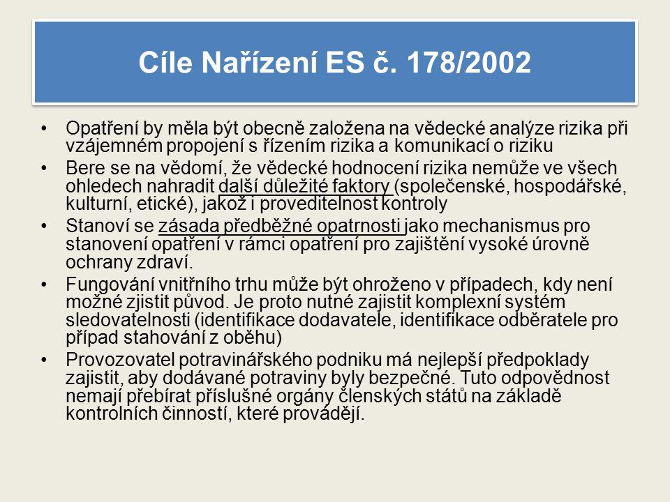 Cíle Nařízení ES č.
