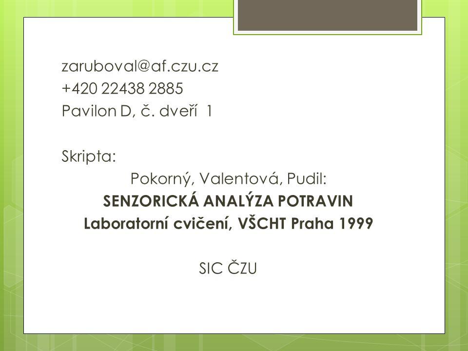 zaruboval@af.czu.cz +420 22438 2885 Pavilon D, č.