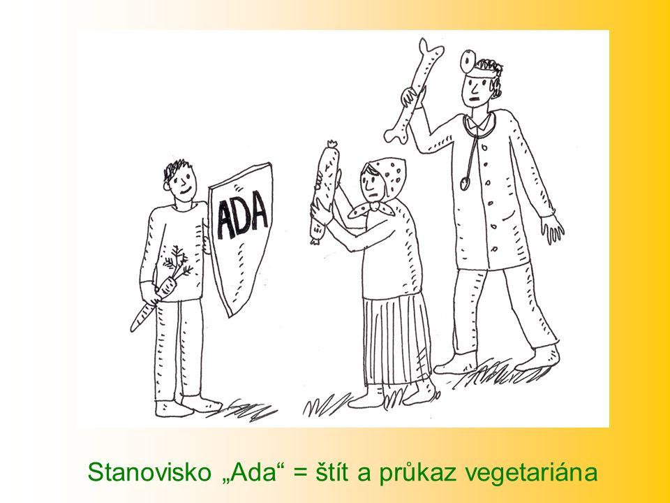 "Stanovisko ""Ada = štít a průkaz vegetariána"