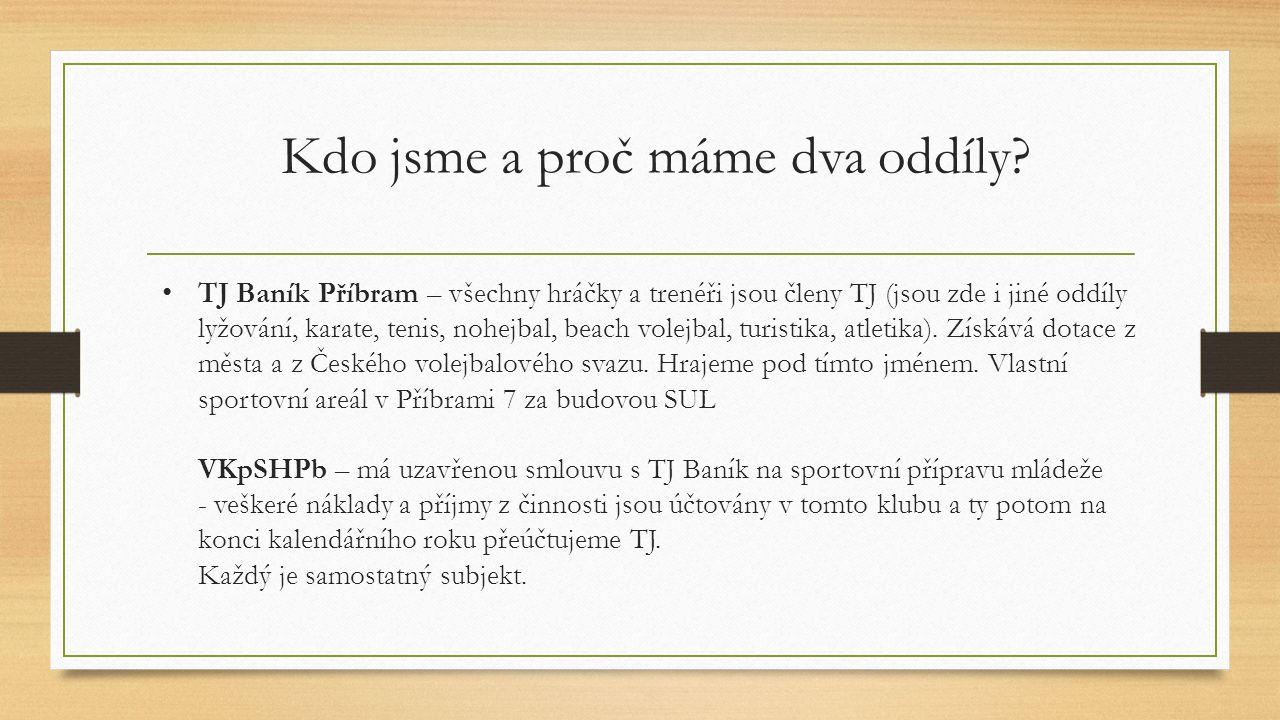 TJ Baník Příbram – všechny hráčky a trenéři jsou členy TJ (jsou zde i jiné oddíly lyžování, karate, tenis, nohejbal, beach volejbal, turistika, atletika).