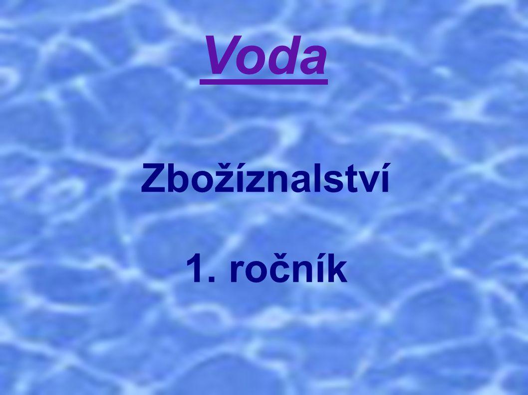 Voda Zbožíznalství 1. ročník