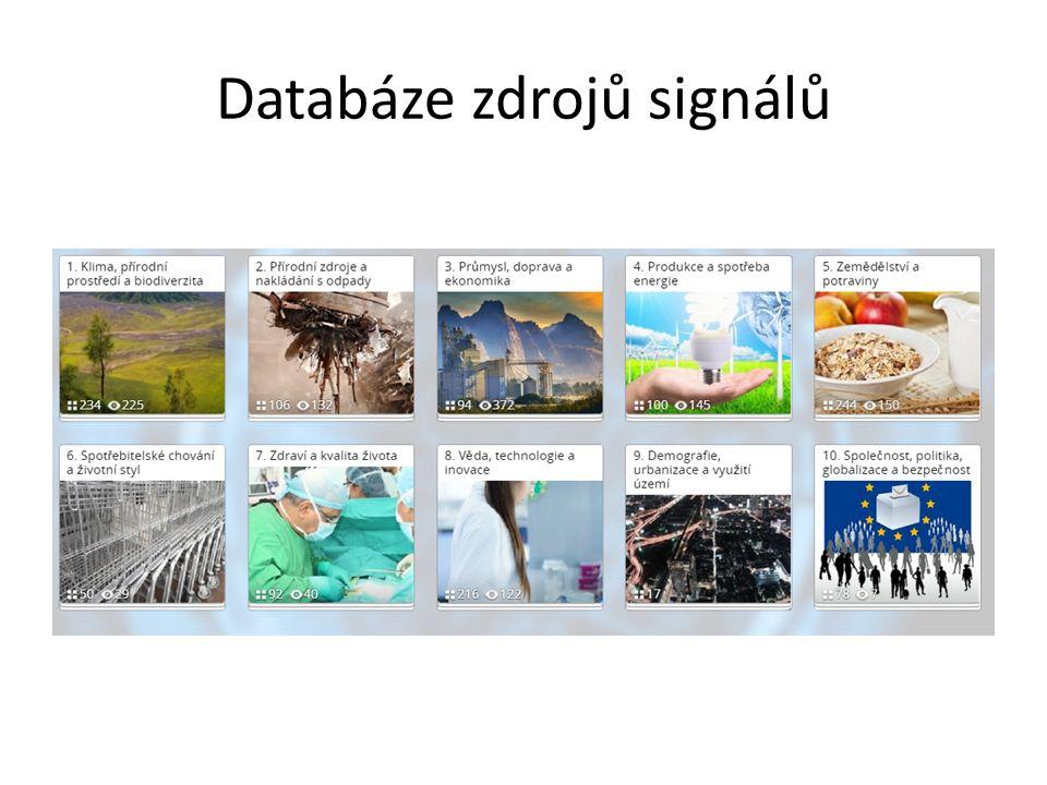 Databáze zdrojů signálů