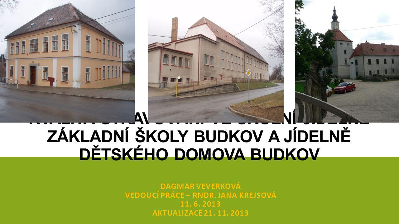 ZÁKLADNÍ ŠKOLA BUDKOV - SKLADOVACÍ PROSTORY, KUCHYNĚ, JÍDELNA