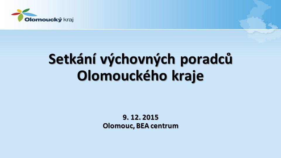 Setkání výchovných poradců Olomouckého kraje 9. 12. 2015 Olomouc, BEA centrum