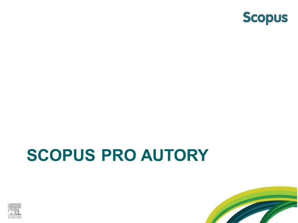 SCOPUS PRO AUTORY