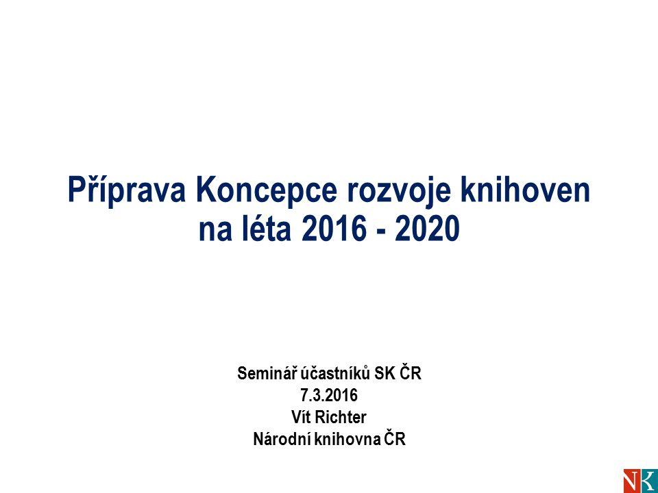 Obsah Příprava Koncepce rozvoje knihoven na léta 2016 – 2020 Jednání ÚKR 22.