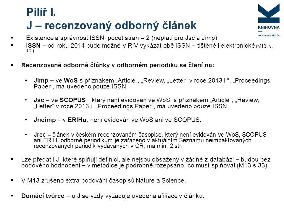  Existence a správnost ISSN, počet stran = 2 (neplatí pro Jsc a Jimp).
