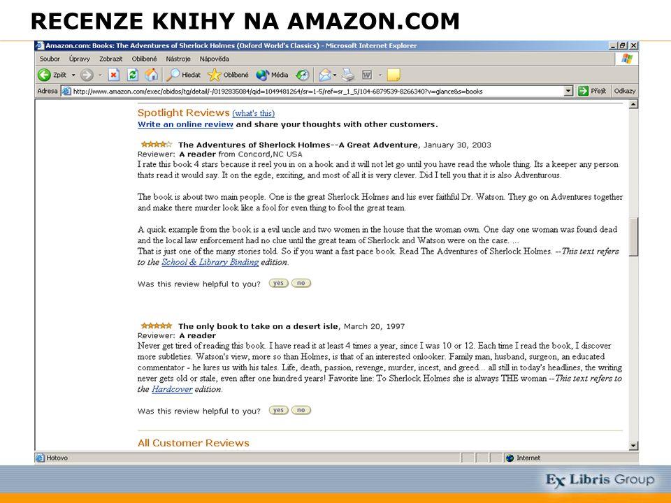 RECENZE KNIHY NA AMAZON.COM