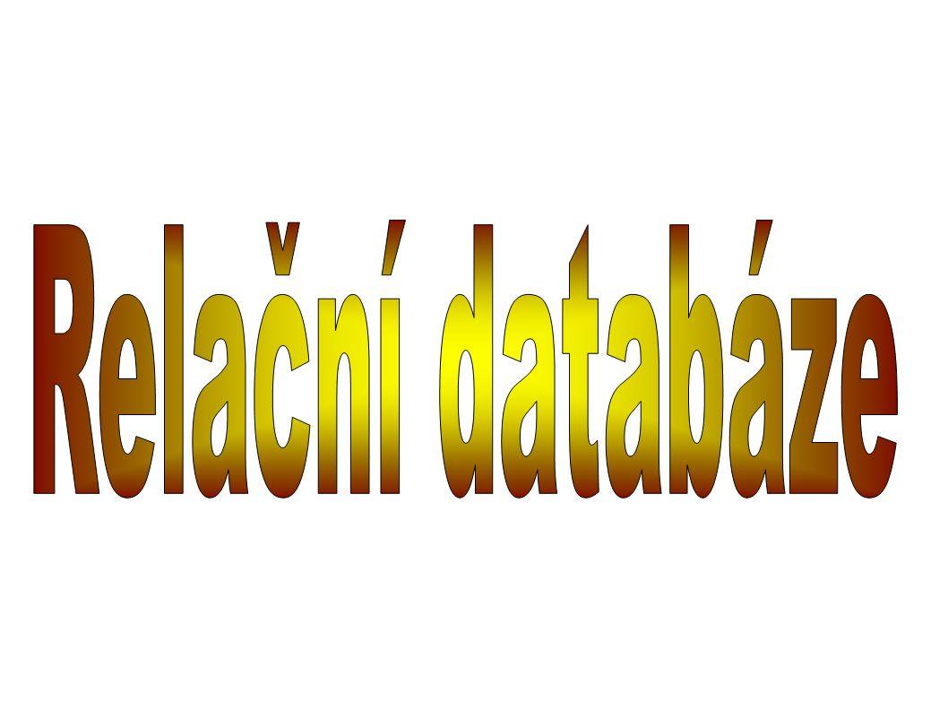 ● Databaze je soubor dat,slouží pro popis reálného světa(např.evidence čkolní knihovny..) ● Relační databaze je databáze založená na relačním modelu.