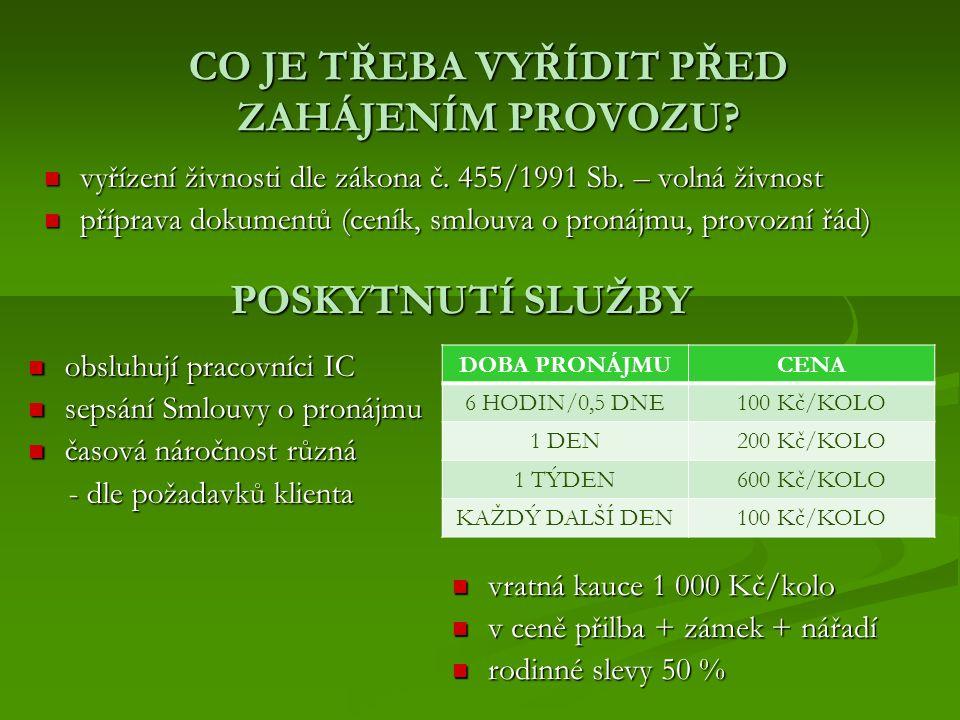 CO JE TŘEBA VYŘÍDIT PŘED ZAHÁJENÍM PROVOZU. vyřízení živnosti dle zákona č.