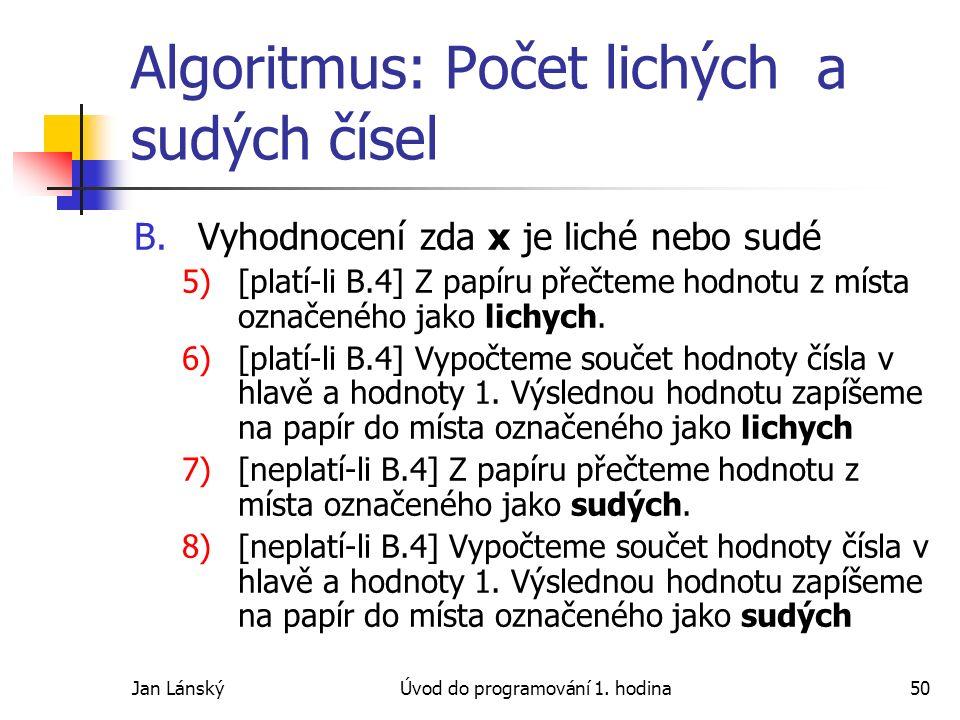 Jan LánskýÚvod do programování 1.