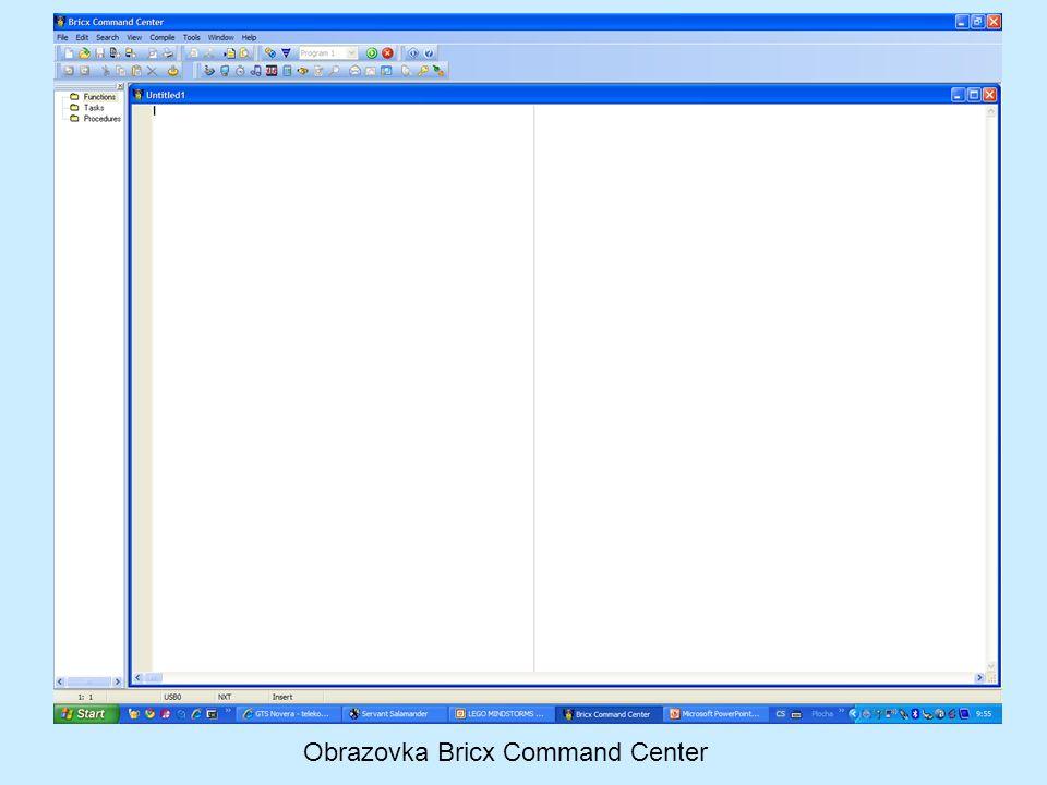 Obrazovka Bricx Command Center