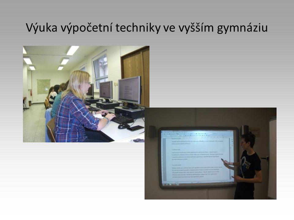 Výuka výpočetní techniky ve vyšším gymnáziu