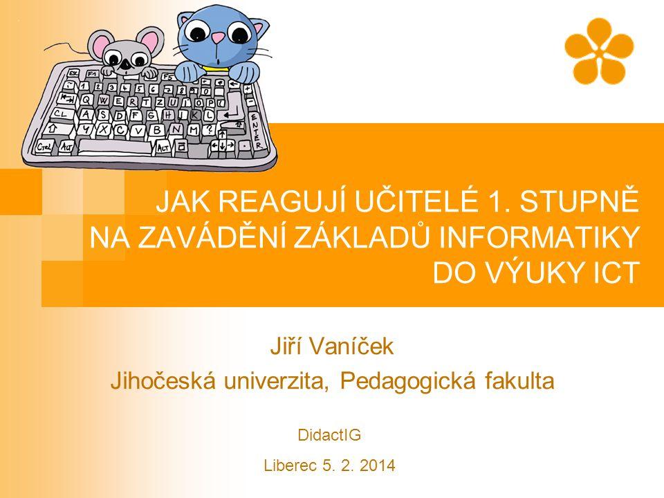 Obsah příspěvku Projekt implementace informatického obsahu do učebnice ICT pro 1.