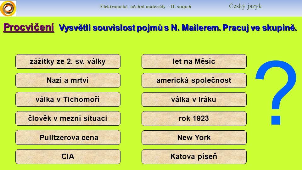 Elektronické učební materiály - II.stupeň Český jazyk I would like to speak English.