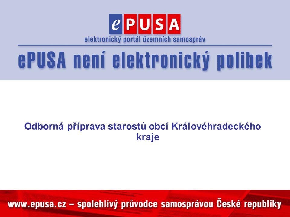 Odborná příprava starostů obcí Královéhradeckého kraje