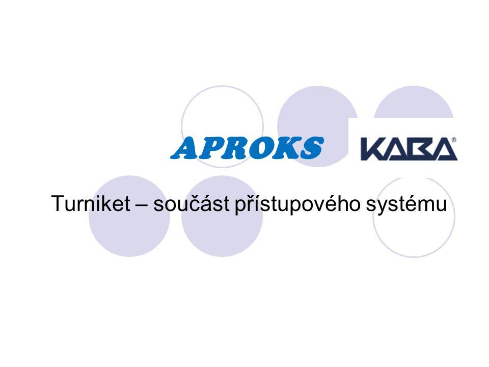 APROKS Turniket – součást přístupového systému
