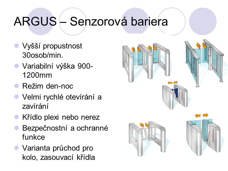 ARGUS – Senzorová bariera Vyšší propustnost 30osob/min.