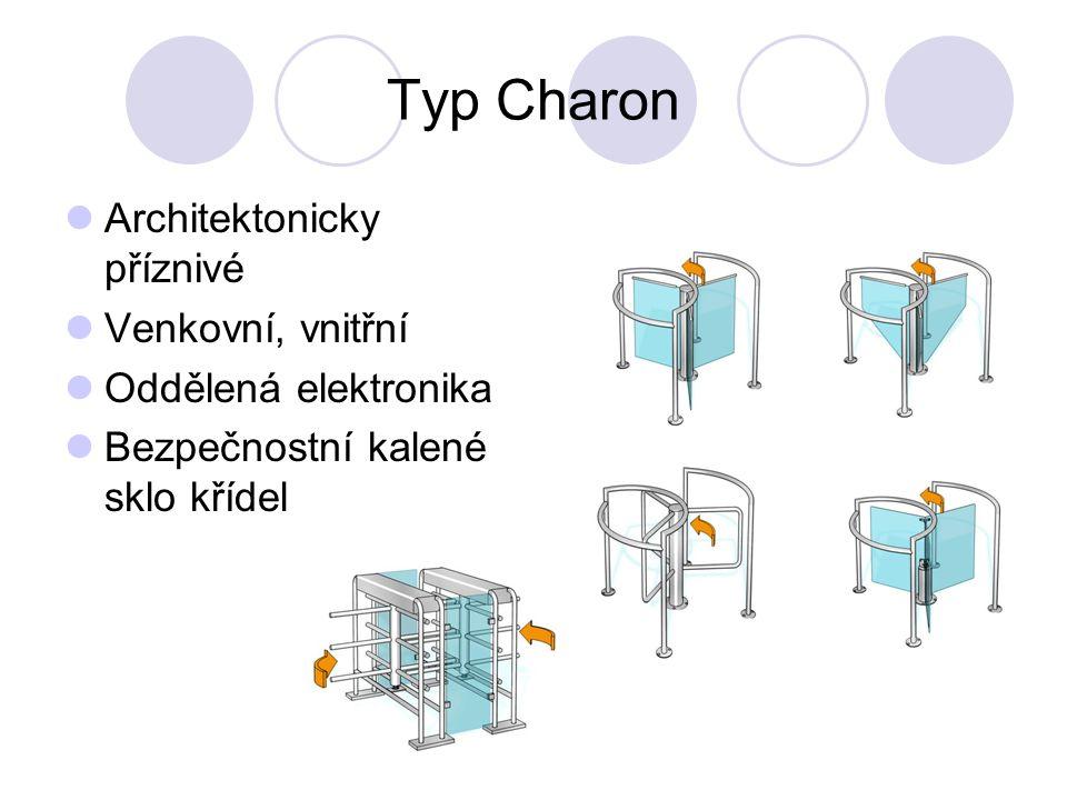 Typ Charon Architektonicky příznivé Venkovní, vnitřní Oddělená elektronika Bezpečnostní kalené sklo křídel