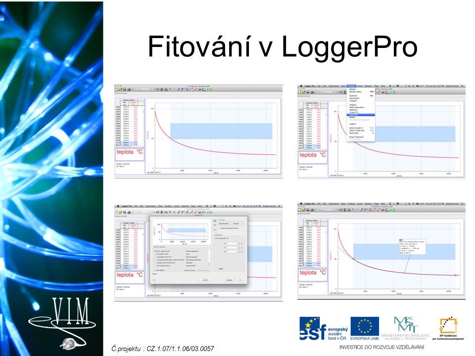 Č.projektu : CZ.1.07/1.1.06/03.0057 Fitování v LoggerPro