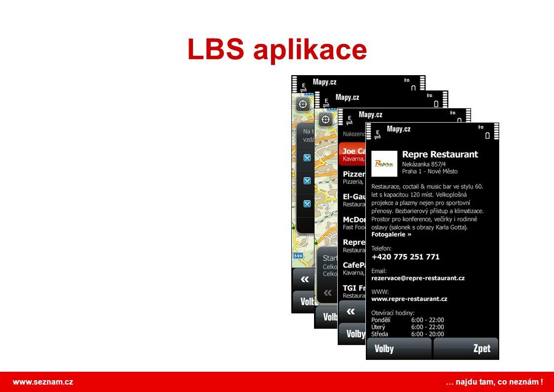 www.seznam.cz … najdu tam, co neznám ! LBS aplikace