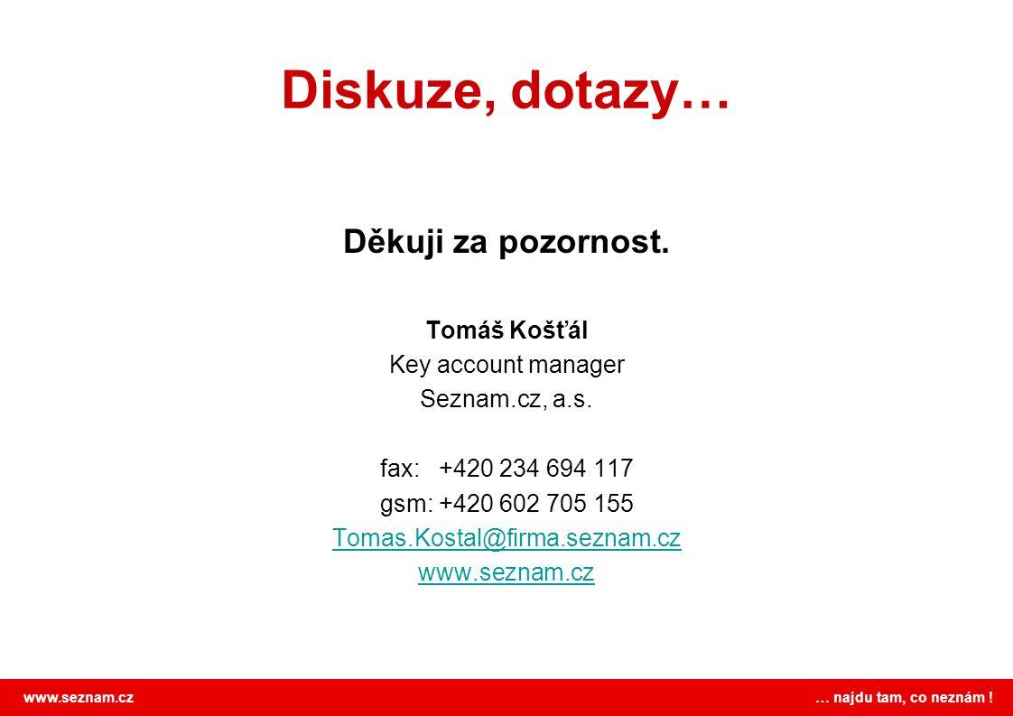 www.seznam.cz … najdu tam, co neznám . Diskuze, dotazy… Děkuji za pozornost.