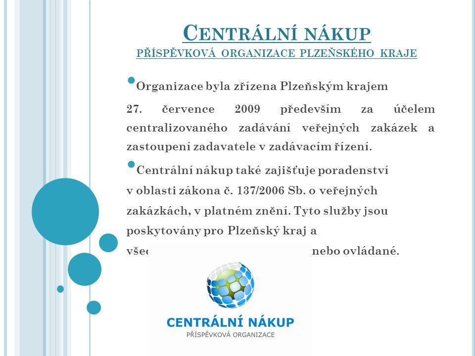 Organizace byla zřízena Plzeňským krajem 27. července 2009 především za účelem centralizovaného zadávání veřejných zakázek a zastoupení zadavatele v z