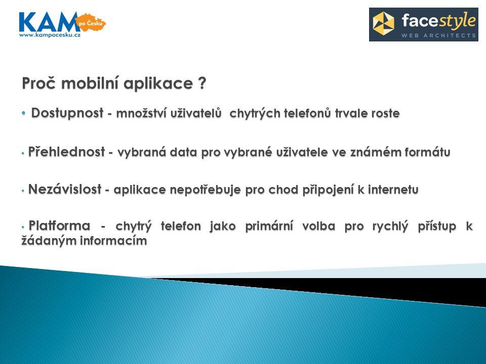 Proč mobilní aplikace .