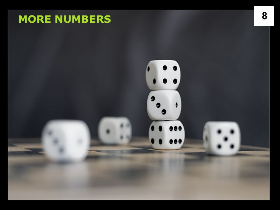 MORE NUMBERS 8