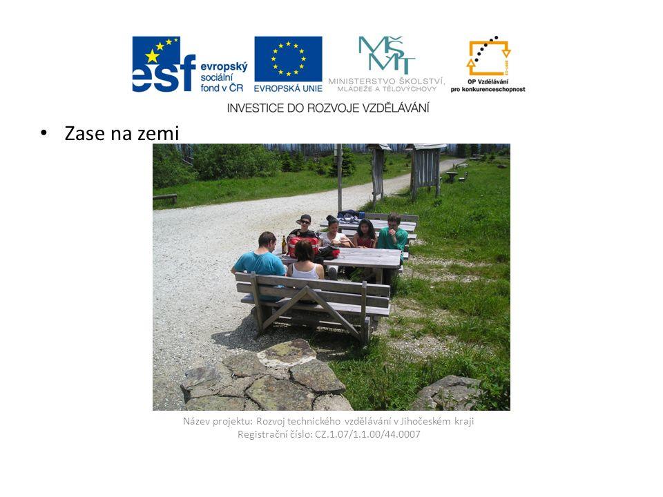 Název projektu: Rozvoj technického vzdělávání v Jihočeském kraji Registrační číslo: CZ.1.07/1.1.00/44.0007 Poledník informační tabule