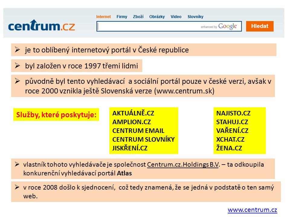 Zdroje: Vlastní tvorba - printscreen http://cs.wikipedia.org/wiki/Internetov%C3%BD_vyhled%C3%A1va%C4%8D