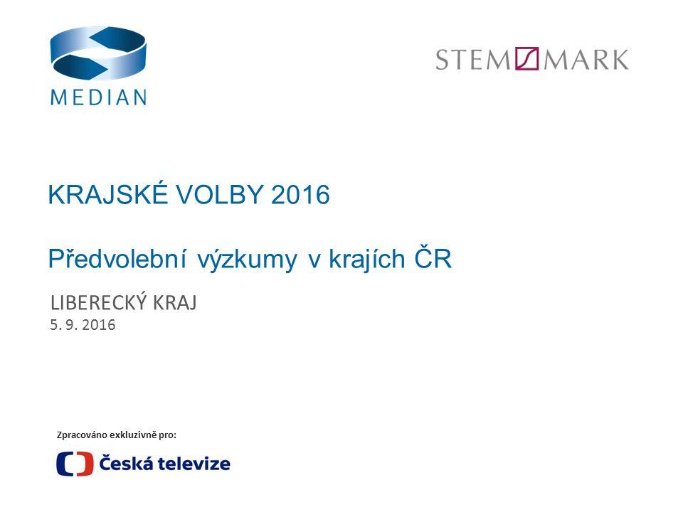 Zpracováno exkluzivně pro: KRAJSKÉ VOLBY 2016 Předvolební výzkumy v krajích ČR LIBERECKÝ KRAJ 5.