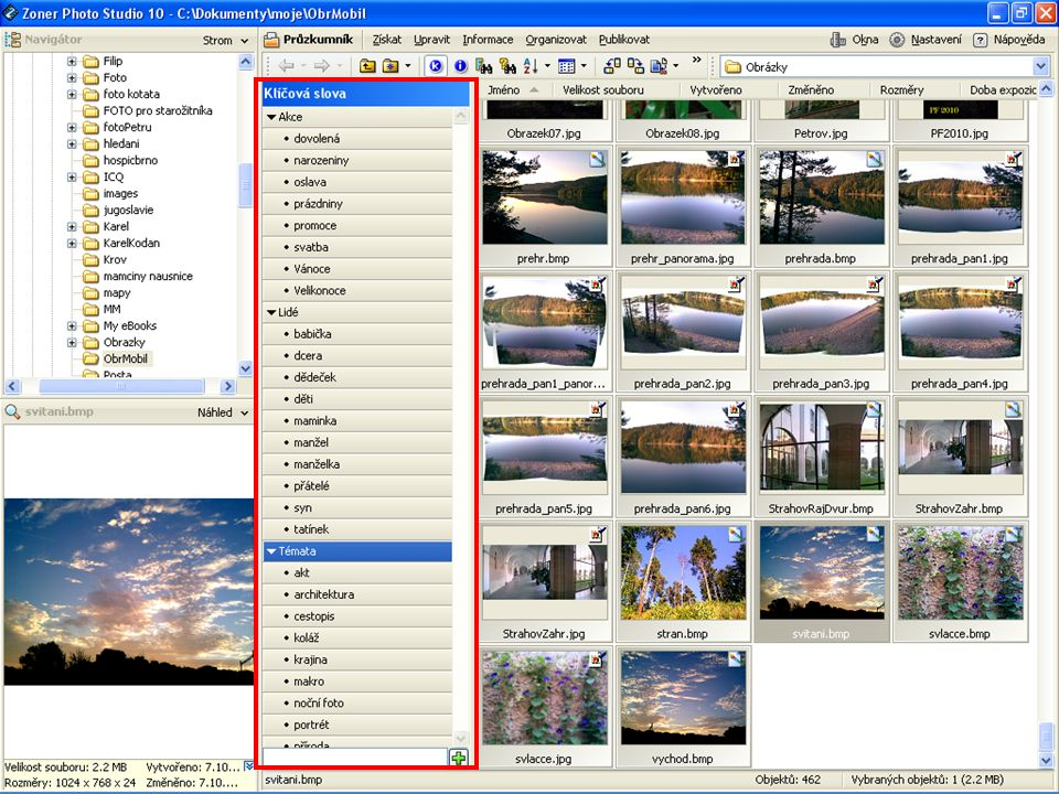 Program pro zpracování digitální fotografie Zoner PhotoStudio
