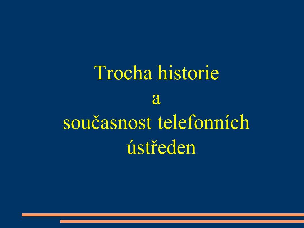 Malé pobočkové telefonní ústředny ● Rozdělení ● Typy poboček ● Některé funkce telefonních ústředen