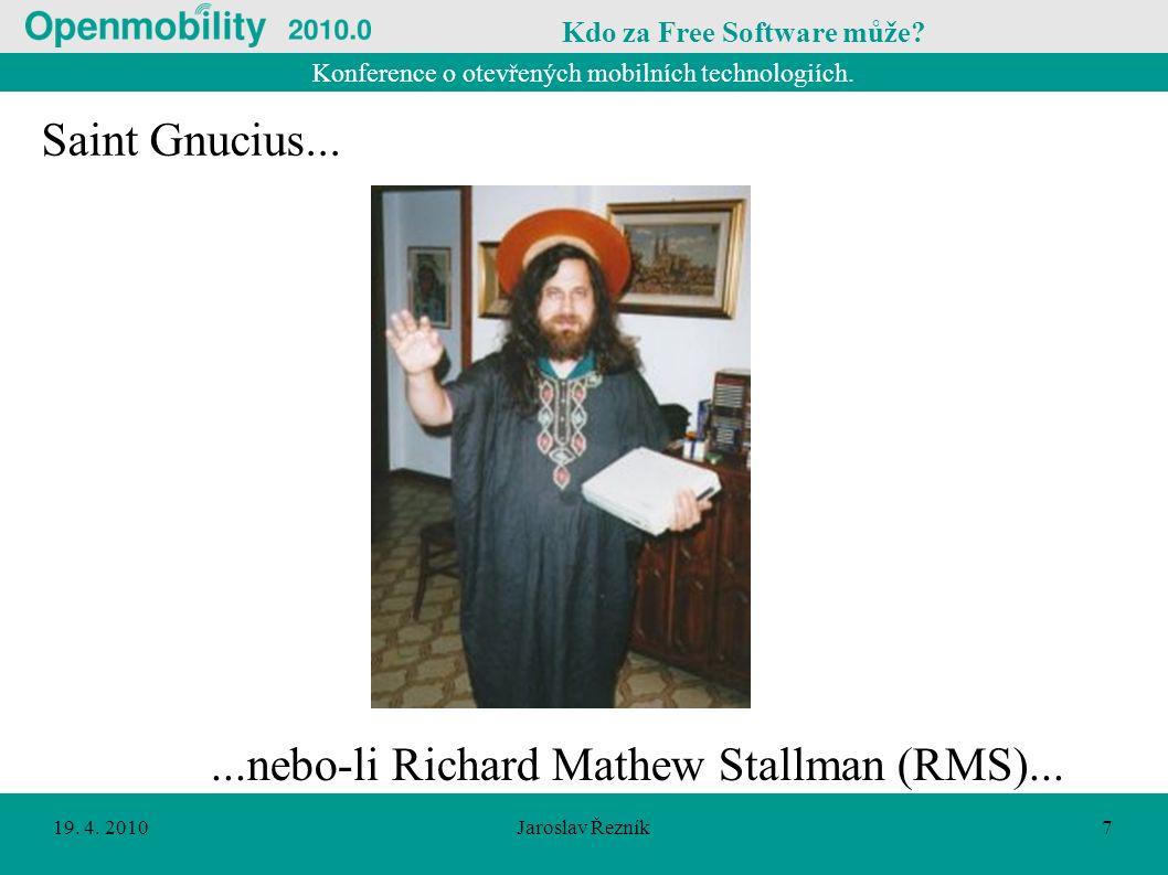Konference o otevřených mobilních technologiích. 19.
