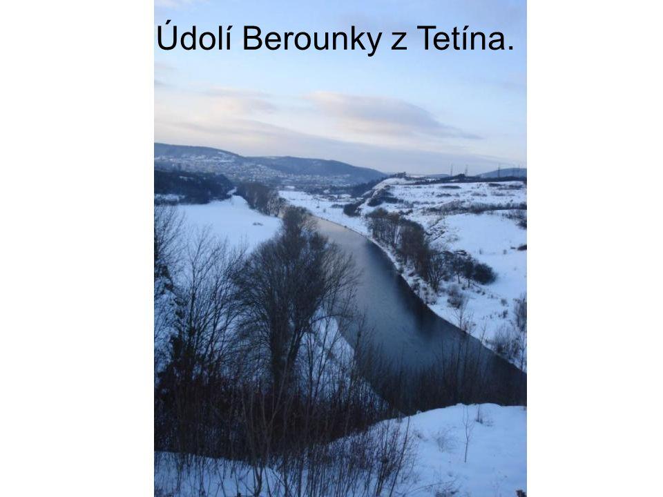 Údolí Berounky z Tetína.