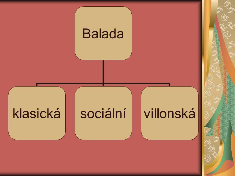 Balada klasickásociálnívillonská