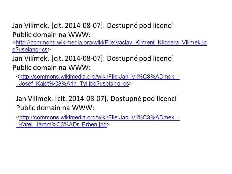 Jan Vilímek. [cit. 2014-08-07].