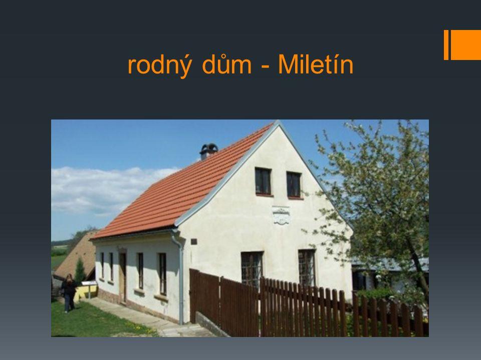 rodný dům - Miletín
