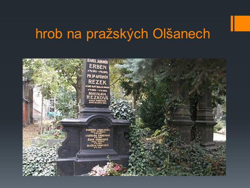 hrob na pražských Olšanech
