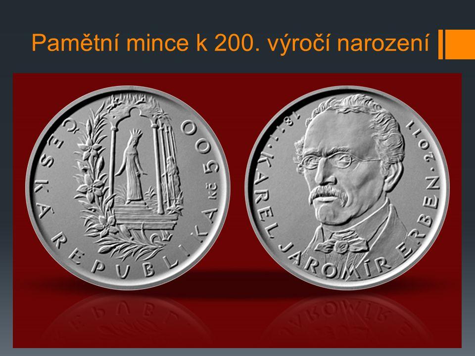 Pamětní mince k 200. výročí narození