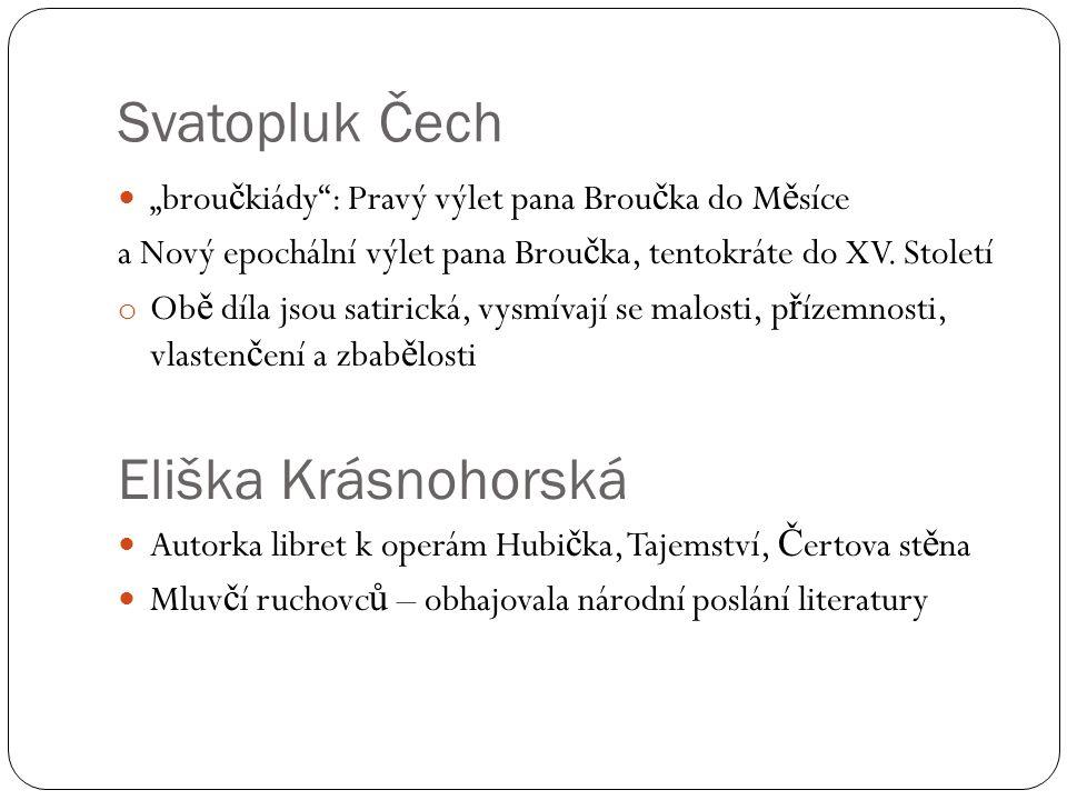 """Svatopluk Čech """"brou č kiády : Pravý výlet pana Brou č ka do M ě síce a Nový epochální výlet pana Brou č ka, tentokráte do XV."""