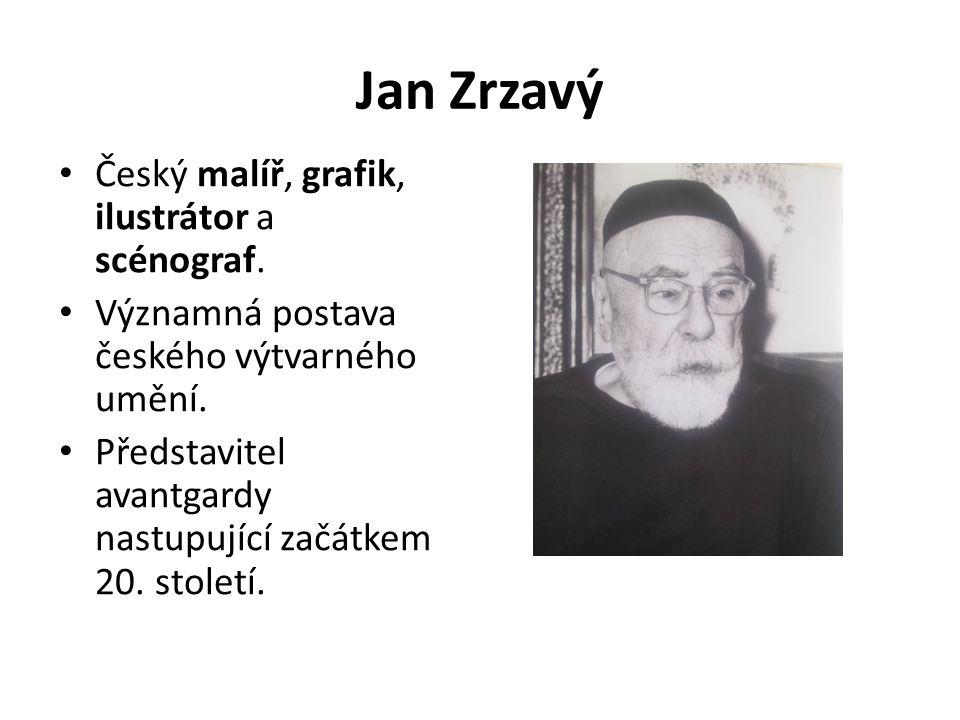 Zrzavý byl jedním z nejdůležitějších členů meziválečné české avantgardy.