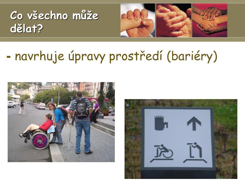 - navrhuje úpravy prostředí (bariéry) Ergoterapie 1.Lékařská fakulta UK Co všechno může dělat?