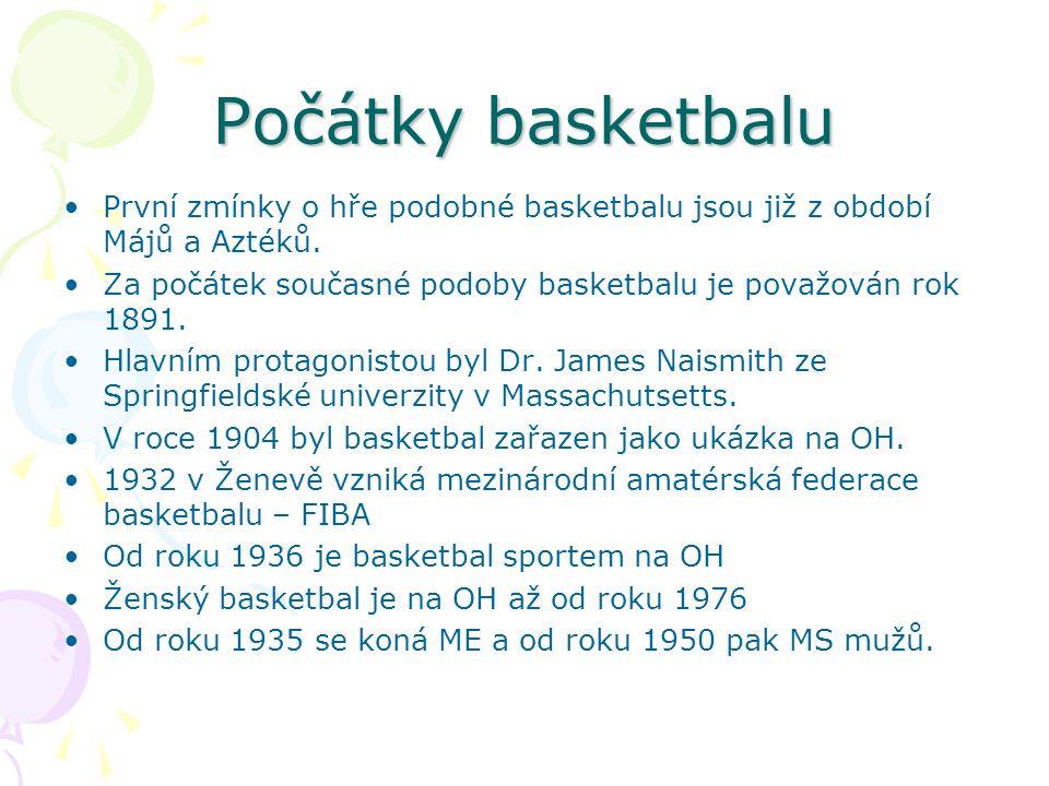 Počátky basketbalu První zmínky o hře podobné basketbalu jsou již z období Májů a Aztéků.