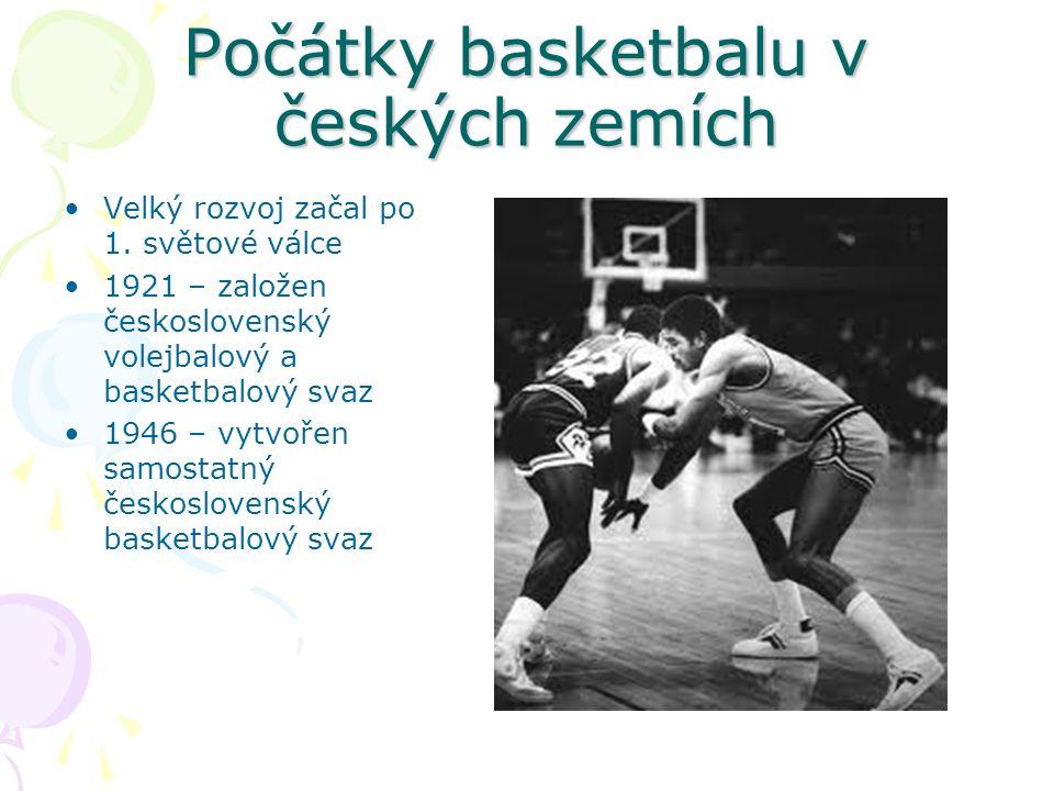 Počátky basketbalu v českých zemích Velký rozvoj začal po 1.