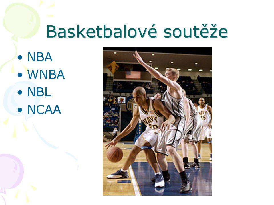 Basketbalové soutěže NBA WNBA NBL NCAA