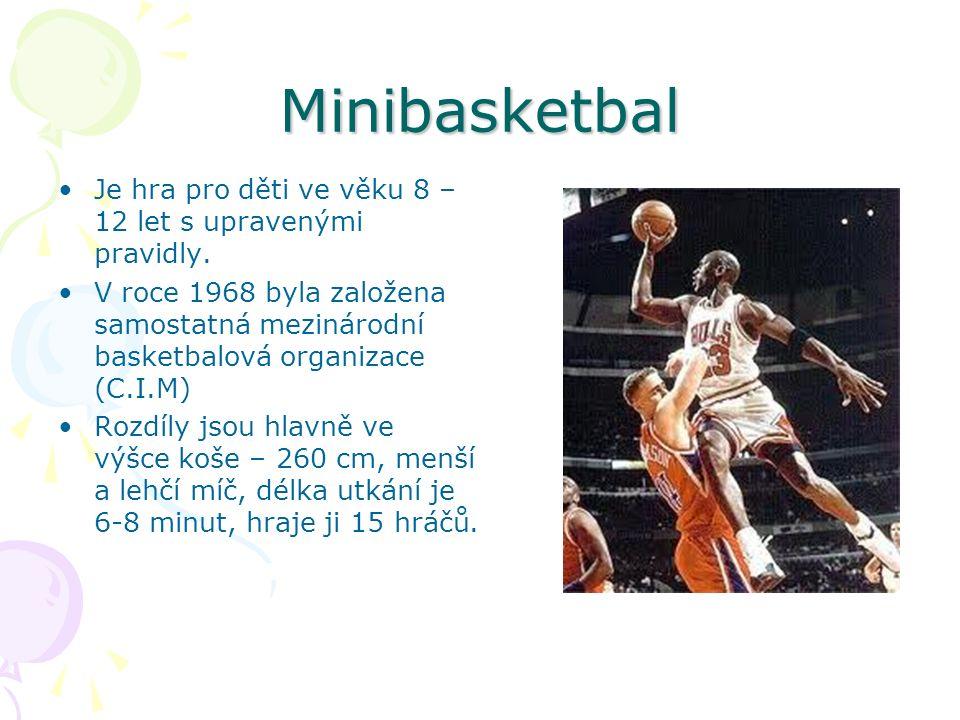 Minibasketbal Je hra pro děti ve věku 8 – 12 let s upravenými pravidly.