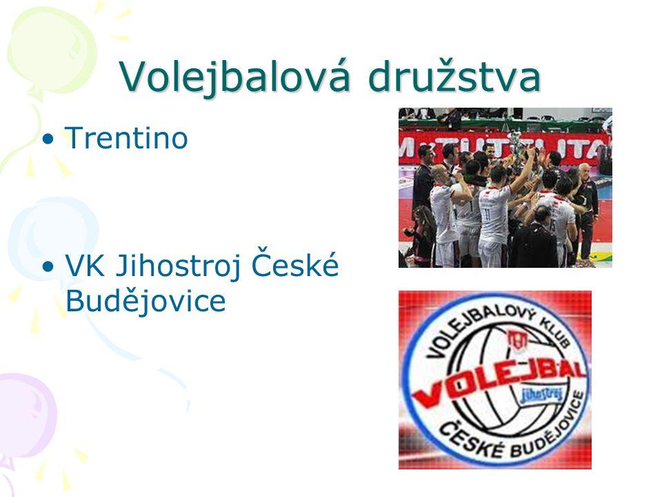 Volejbalová družstva Trentino VK Jihostroj České Budějovice
